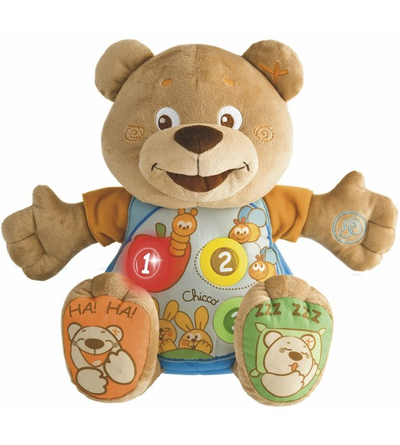 Chicco Teddy Count with Me Bilingual (French/English)
