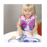 Skip Hop Zoo Tuck-Away Water Resistant Baby Bib, Butterfly