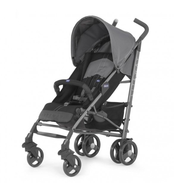 Chicco New Lite Way Basic With Bumper Bar - Coal