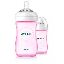 Philips Avent Natural Baby Bottle Slow Flow Teat (260 ml, Pack of 2)