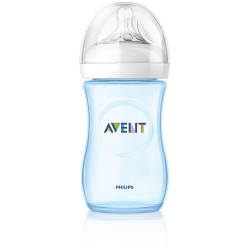 Philips Avent Natural baby bottle Slow flow teat (260 ml,  Blue, Pack of 2)