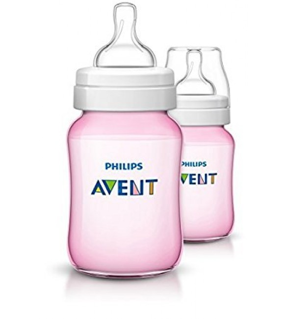 Philips Avent Classic Feeding Bottle 260ml/9oz Pink