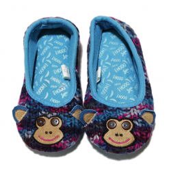 Winter Slippers - Blue Monkey