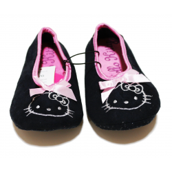 Winter Slippers - Black Hello Kitty
