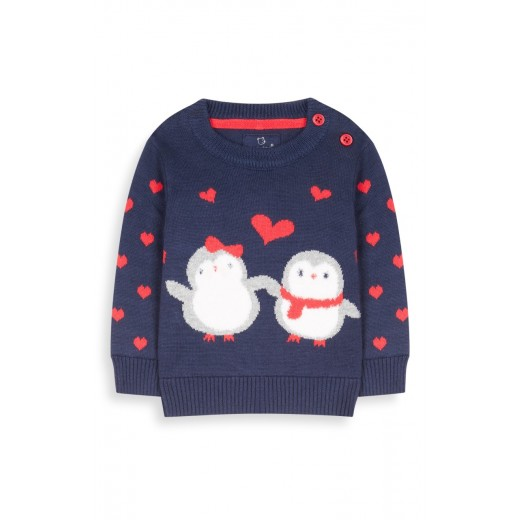 Primark Penguin Knitted Jumper newborn/ 0-3months