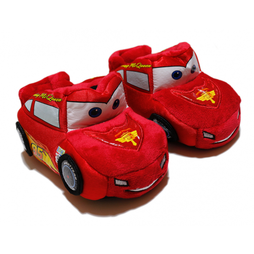 Winter Slippers -  Red Car