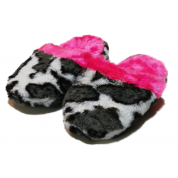 Winter Slippers - Pink & Black