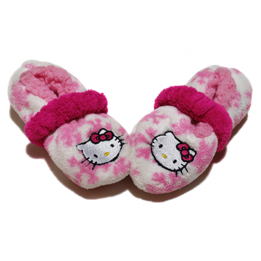 Winter Slippers -  Baby Pink Hello Kitty