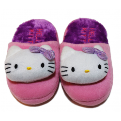 Winter Slippers - Purple Hello Kitty
