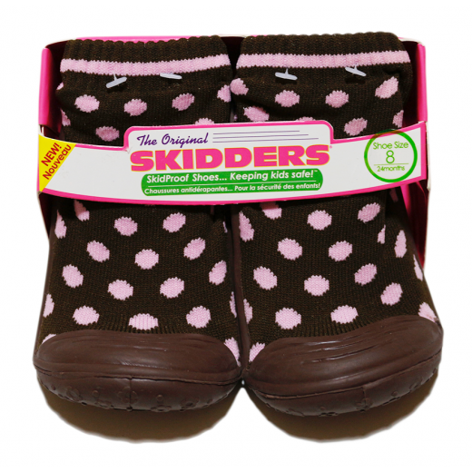 Winter Slippers - Pink Dots 24 Months