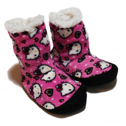 Winter Slippers - Fluffy Hello Kitty