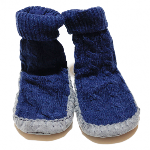 Winter Slippers - Blue 0-6 Months & 2-3 Years