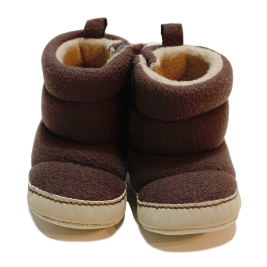 Winter Slippers - Brown 0-6 Months