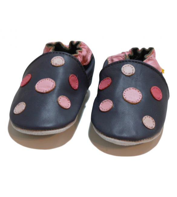 Pink Dots Shoes For Babies 0-6 Months