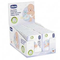 Chicco Perfumed Bags Seal Diapers 50 pcs - Nappy Sack