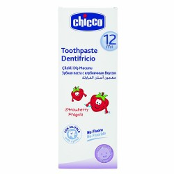 Chicco Toothpaste Strawberry 50ml Without Fluoride