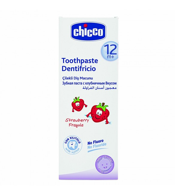 Chicco Toothpaste Strawberry 50ML 12M+ WITHOUT FLUORIDE