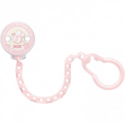 NUK Rose  Baby Pink Soother Chain
