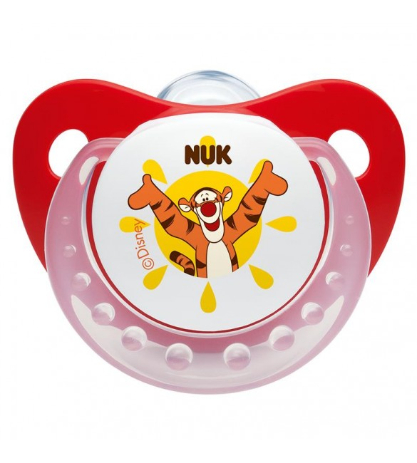 Nuk Winnie the Pooh Silicone Soother Stage 1 (Red)