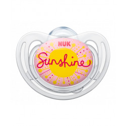 Nuk Silicone Soother Free Style Stage 1 (Sunshine)