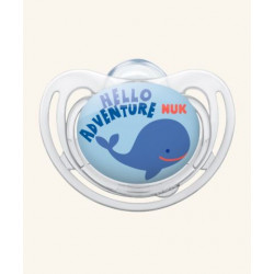Nuk Silicone Soother Free Style Stage 1 (Hello Adventure)
