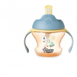 Tommee Tippee Weaning Straw Cup 6m+  -yellow