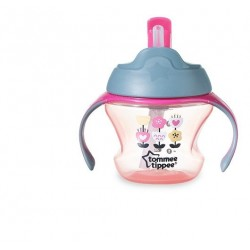 Tommee Tippee Weaning Straw Cup 6m+  -pink