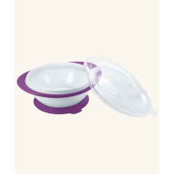 Nuk Easy Learning Bowl With Two Lids - Purple