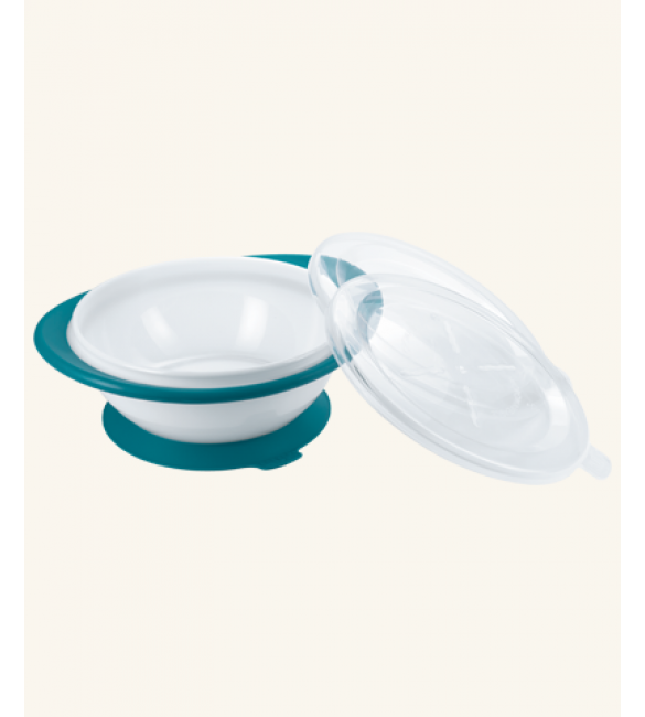 NUK Easy Learning Feeding Bowl with two lids - Blue