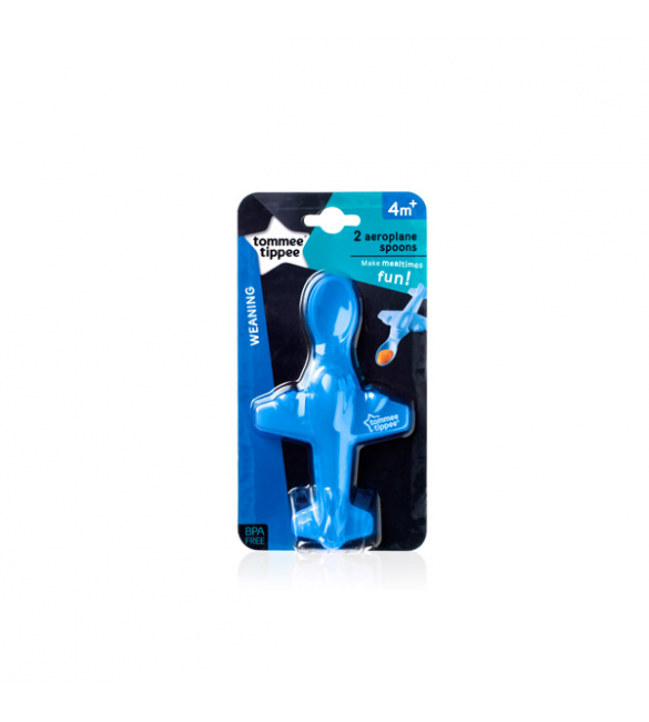 Tommee Tippee Areoplane Spoon - blue