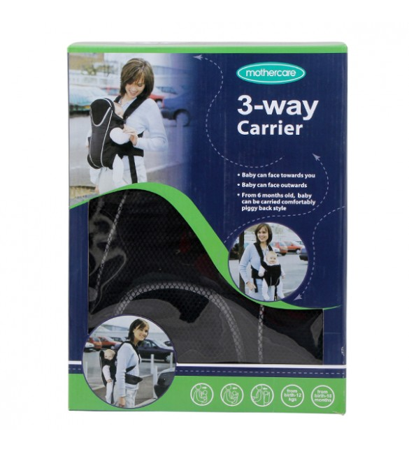 Mothercare 3-Way Baby Carrier From Birth to 12 Kgs