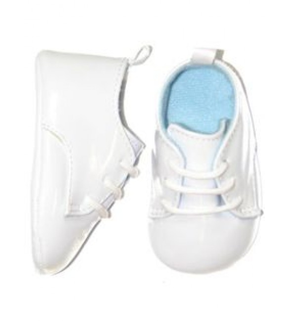 White Leather Saddle Oxford Shoes for Baby Boy (3-6 Months & 6-9 Months)