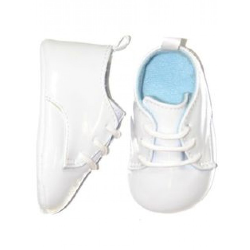 White Leather Saddle Oxford Shoes for Baby Boy 3 6 Months