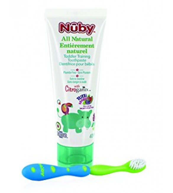 Nuby All Natural Toddler Training Toothpaste (Green)