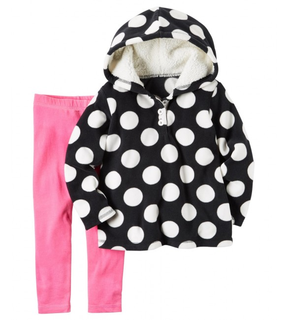 Carter's Girls' Hoodie & Leggings - Polka Dot