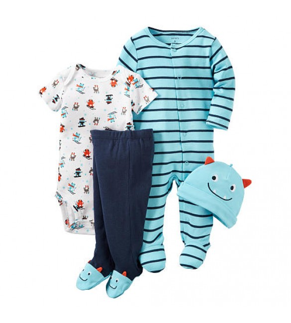 Carter's Boys 4 Piece monster Set-9 months