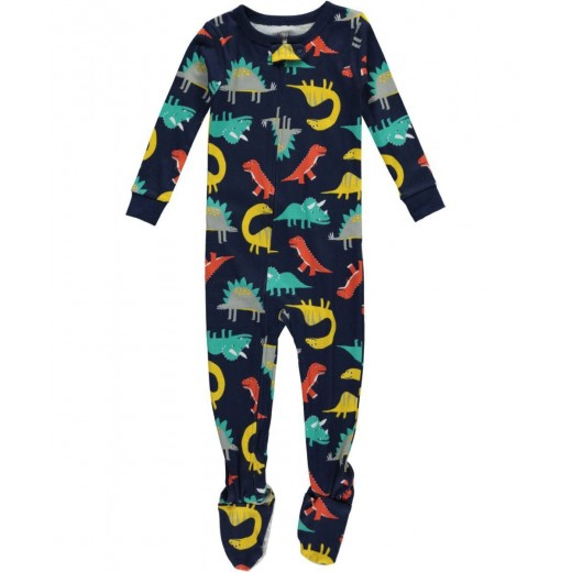 Carter's 1 Piece Cotton, Dino Print - 2 Years ,4 Years