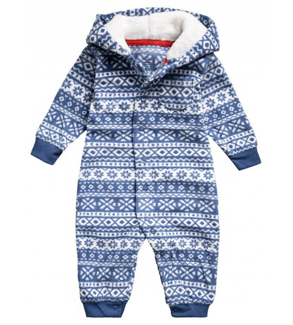 Hooded Fleece Jumpsuit-9months