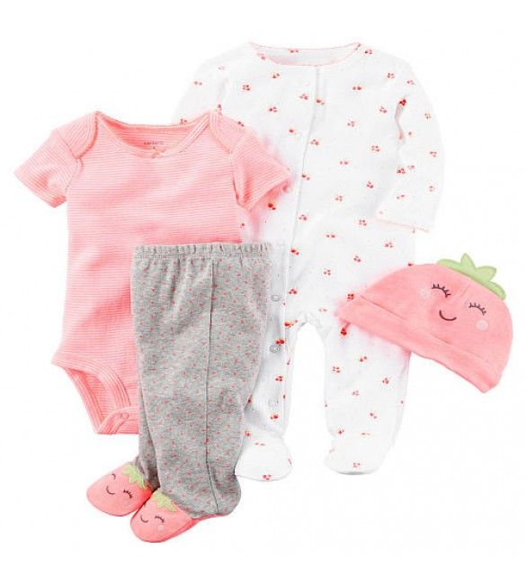 Carter's Boys 4 Piece Strawberry Set - New Born