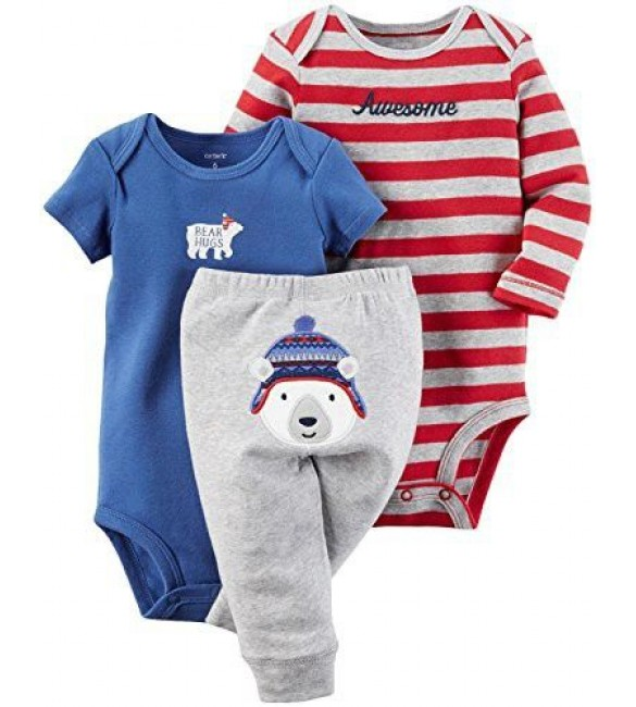 Carter's Baby Boys 3 Pc Back Art -newborn