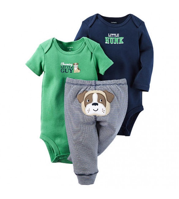 Carter's baby clothing 3 Pcs 6 Months (Dog)
