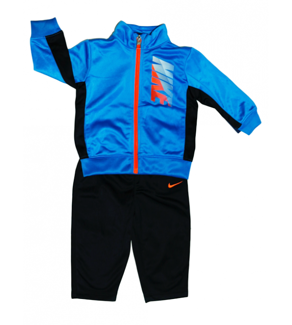 Nike tracksuit 2 piece set black/blue/orange-12months