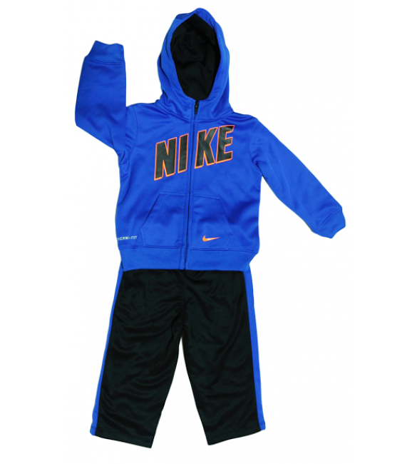 Nike Therma Fit tracksuit black/blue/orange 24months