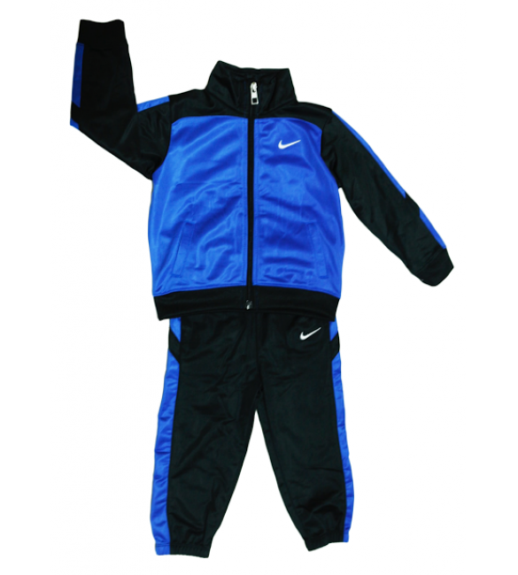 Nike tracksuit 2 piece set black/blue 24months