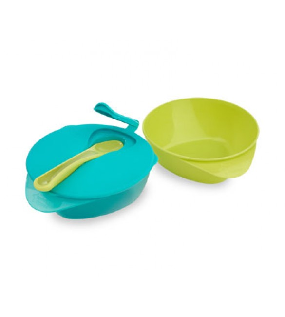 Tommee Tippee  Easy Scoop Feeding Bowls with Lid and  Spoon-blue