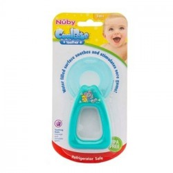 Nuby Coolbite Round Teether with Sterilised Water - (Green)