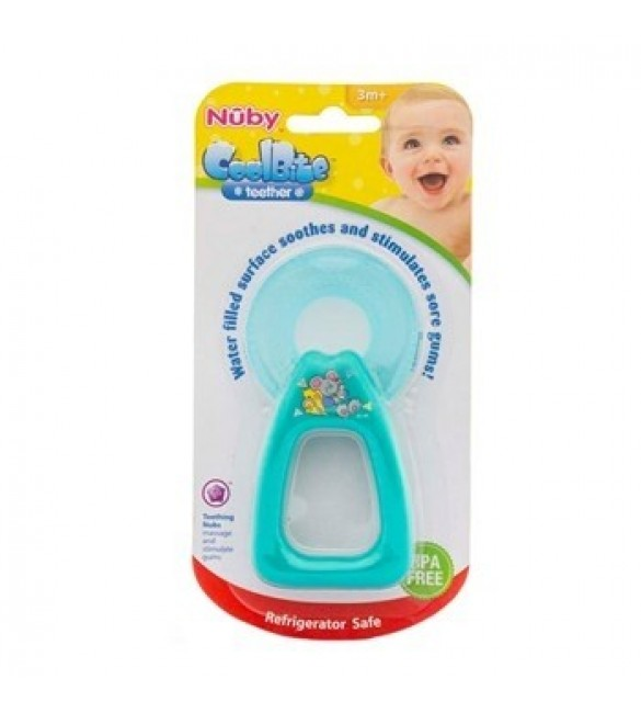 Nuby Coolbite Round Teether with Sterilised Water - 3m+ (Green)