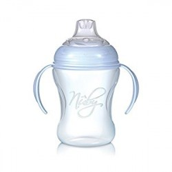 Nuby cup natural sipper with removable handles 240ml - Blue