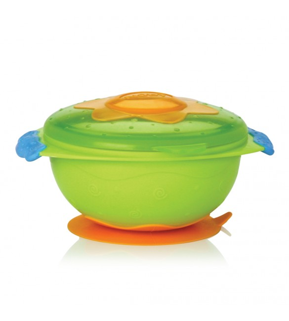 Nûby Bowl with Suction Ring - Green