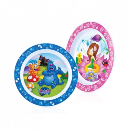 Nuby Mixed Imonster / Flower Child Plates